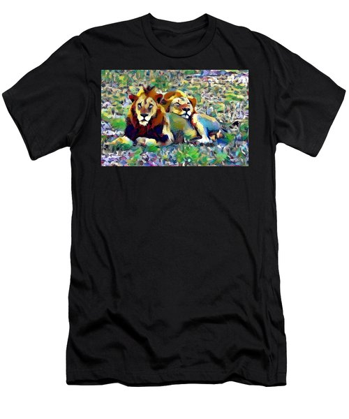 Lion Buddies Men's T-Shirt (Athletic Fit)