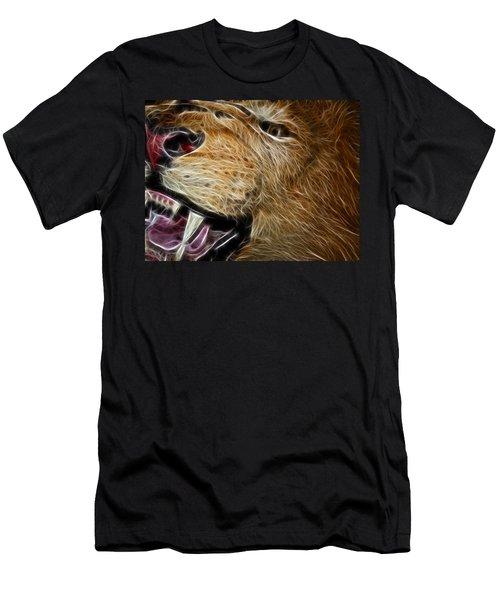 Lion Fractal Men's T-Shirt (Athletic Fit)