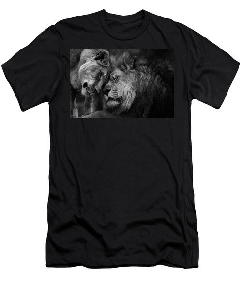 Lion In Love 2 Men's T-Shirt (Athletic Fit)