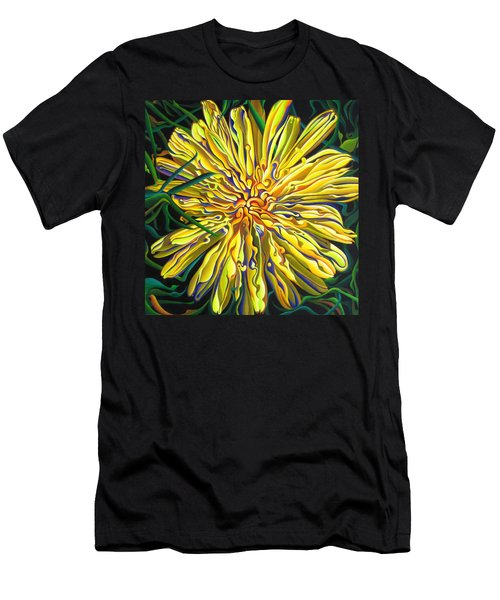 Lion In The Grass Men's T-Shirt (Athletic Fit)