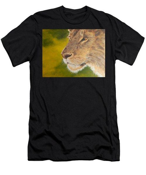 Lion Portrait Men's T-Shirt (Athletic Fit)