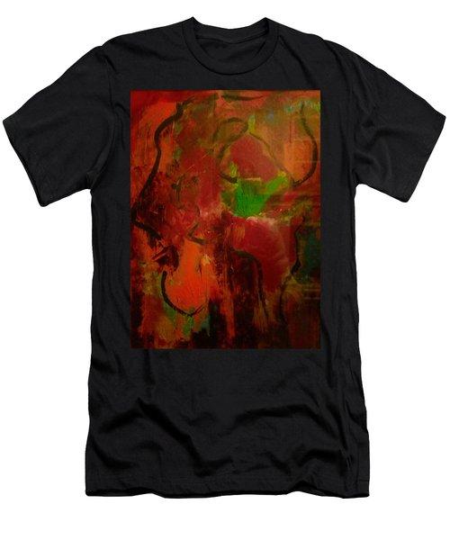 Lion Proile Men's T-Shirt (Athletic Fit)