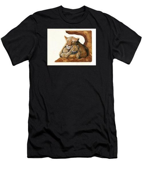 Lion - Protect Our Children Painting Men's T-Shirt (Athletic Fit)