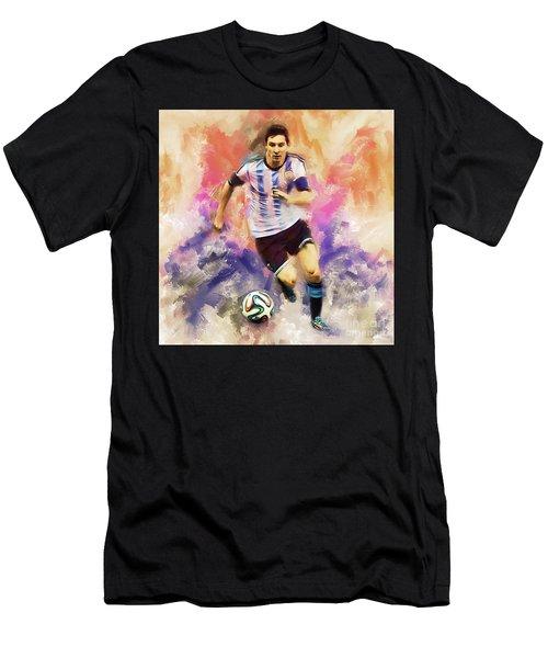 Lionel Messi 094c Men's T-Shirt (Athletic Fit)