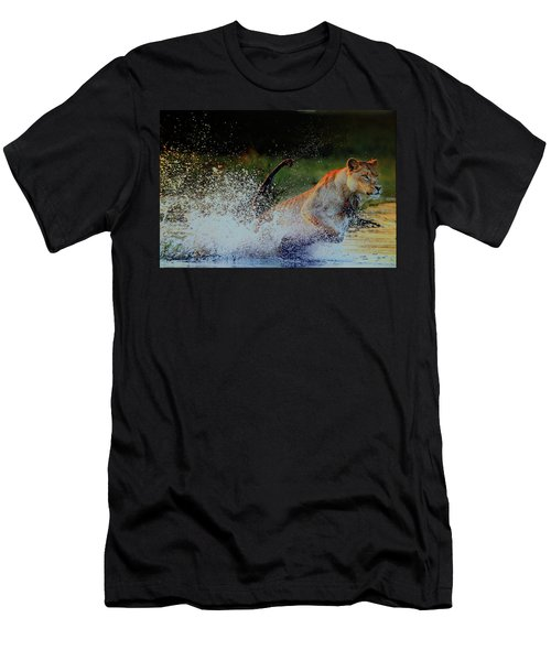 Lioness In Motion Men's T-Shirt (Athletic Fit)