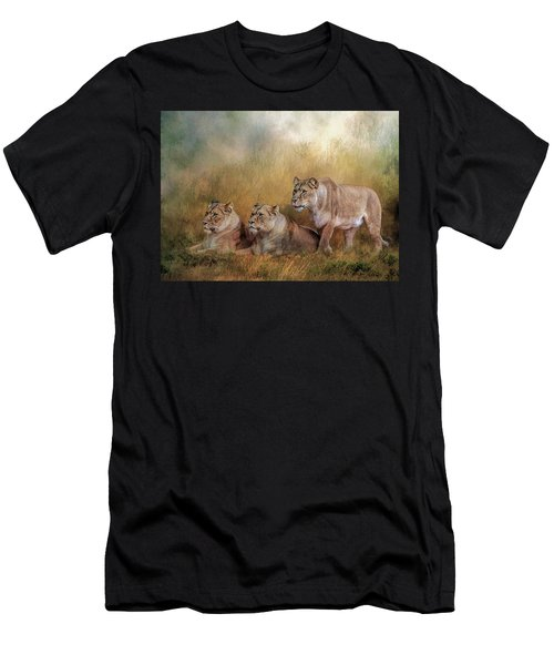 Lionesses Watching The Herd Men's T-Shirt (Athletic Fit)