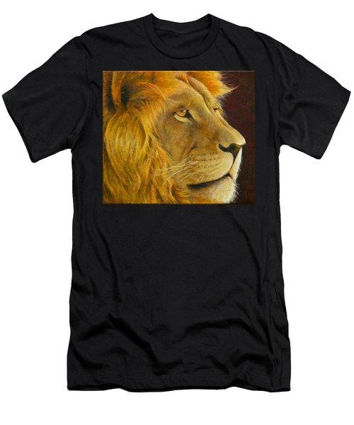 Lion's Gaze Men's T-Shirt (Athletic Fit)