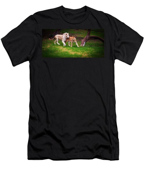 Men's T-Shirt (Athletic Fit) featuring the photograph Lions Love by Jenny Rainbow