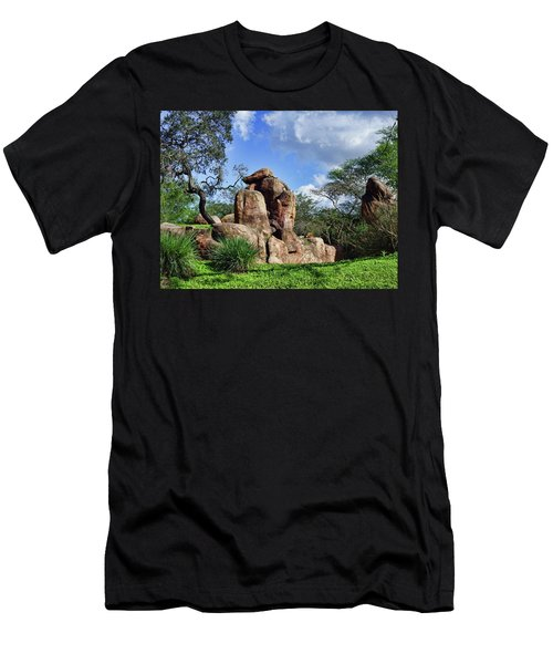 Men's T-Shirt (Slim Fit) featuring the photograph Lions On The Rock by B Wayne Mullins