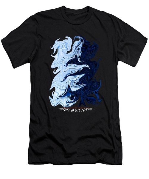 Liquid Blue Transparency Men's T-Shirt (Athletic Fit)