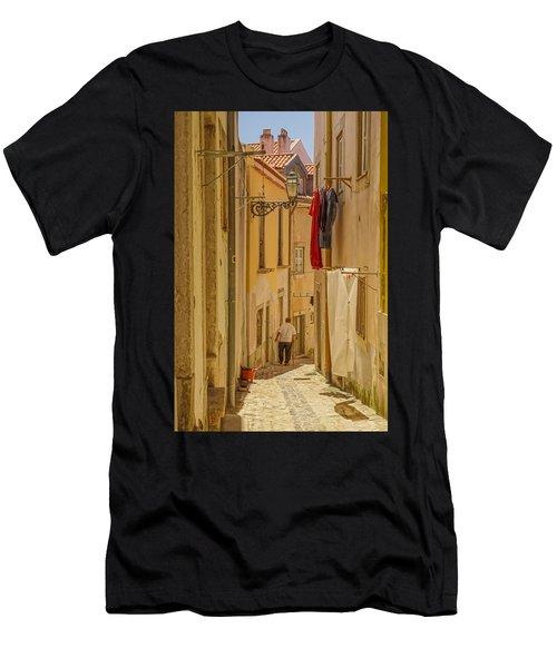 Lisbon Street # 1 Men's T-Shirt (Athletic Fit)