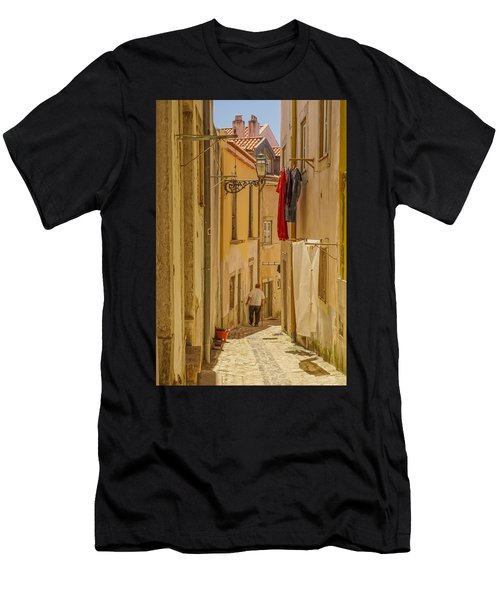 Lisbon Street # 1 Men's T-Shirt (Athletic Fit)