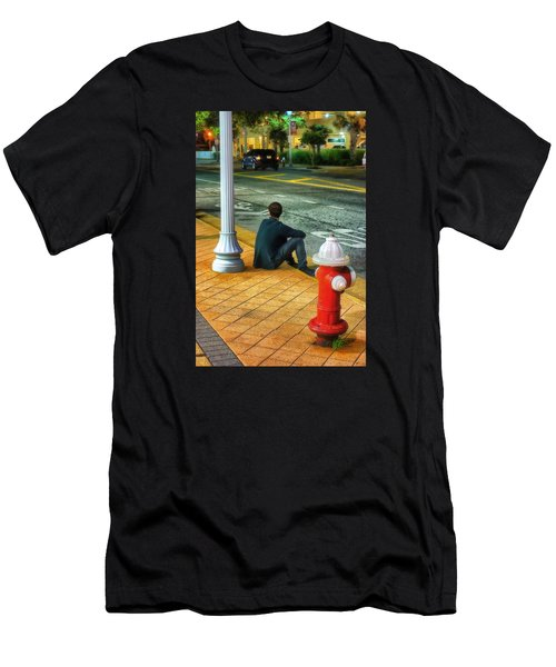 Men's T-Shirt (Slim Fit) featuring the photograph Listening  by Beth Akerman