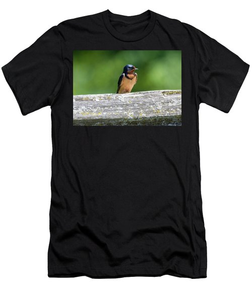 Men's T-Shirt (Athletic Fit) featuring the photograph Little Barn Swallow by Ricky L Jones