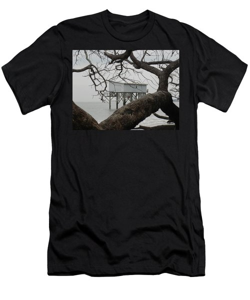 Men's T-Shirt (Slim Fit) featuring the photograph Little Blue Gone But Not Forgotten by Patricia Greer