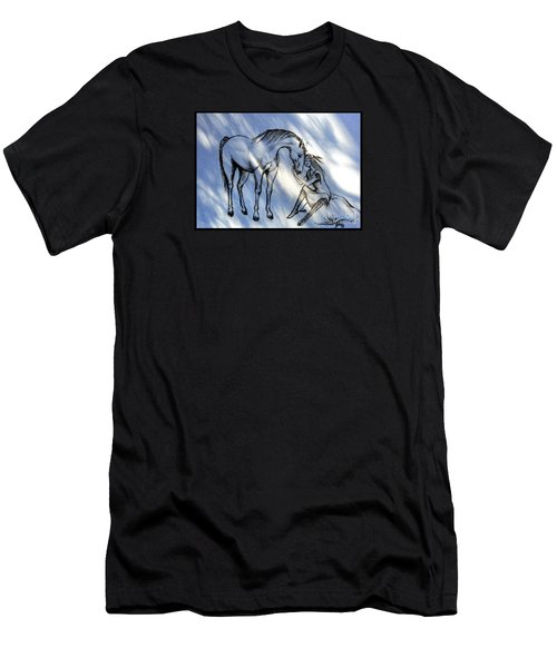 Little Deer And Wind Spirit Men's T-Shirt (Athletic Fit)
