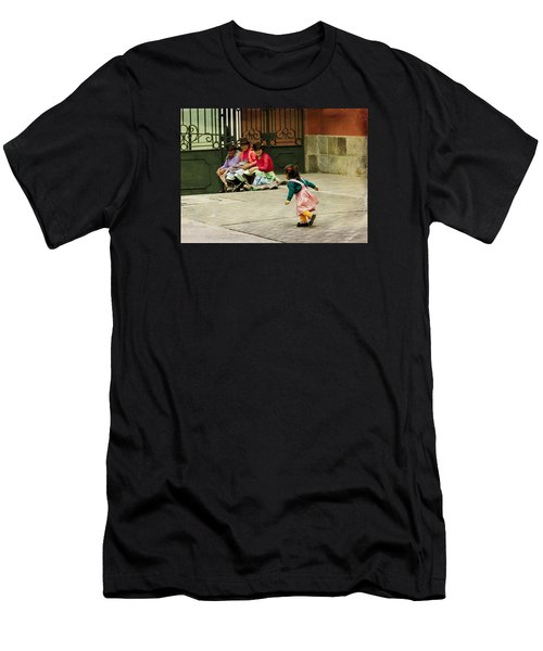Little Girl On The Streets Of Lima, Peru Men's T-Shirt (Athletic Fit)