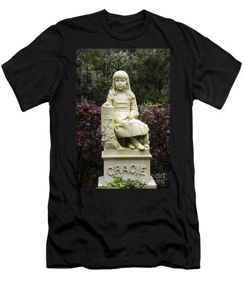 Little Gracie Bonaventure Cemetery Men's T-Shirt (Slim Fit) by Jeannette Hunt