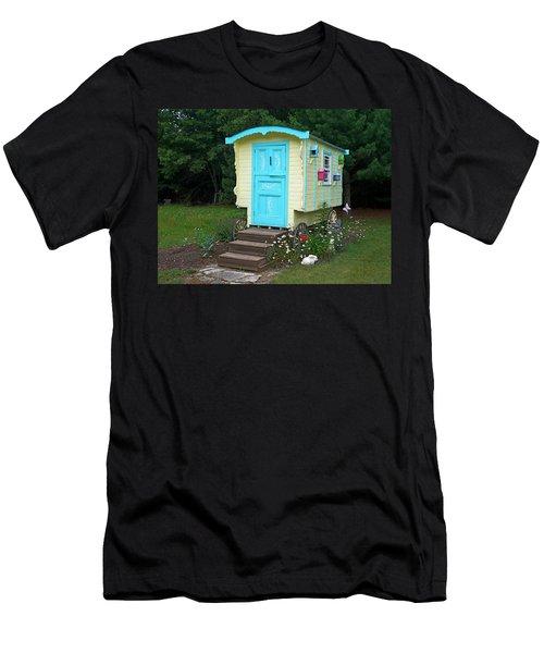 Little Gypsy Wagon II Men's T-Shirt (Slim Fit) by Judy Johnson