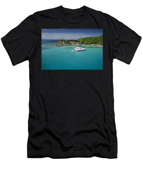Little Harbor, Peter Island Men's T-Shirt (Athletic Fit)