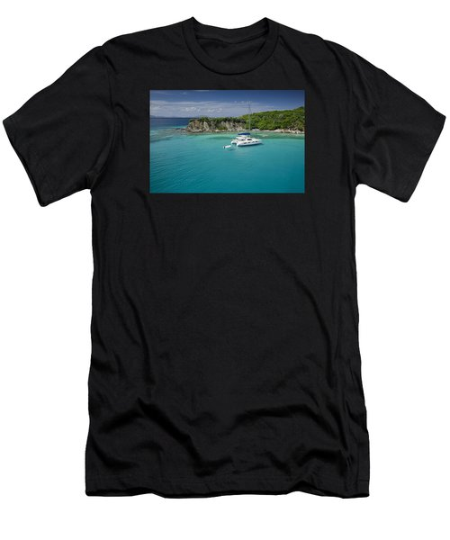 Little Harbor, Peter Island Men's T-Shirt (Athletic Fit)