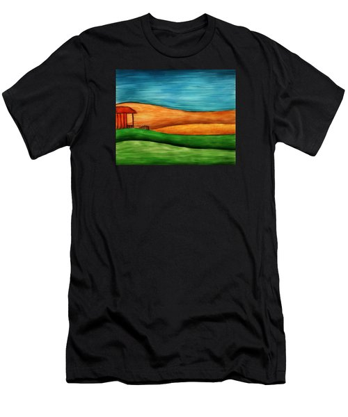 Little House On Hill Men's T-Shirt (Athletic Fit)