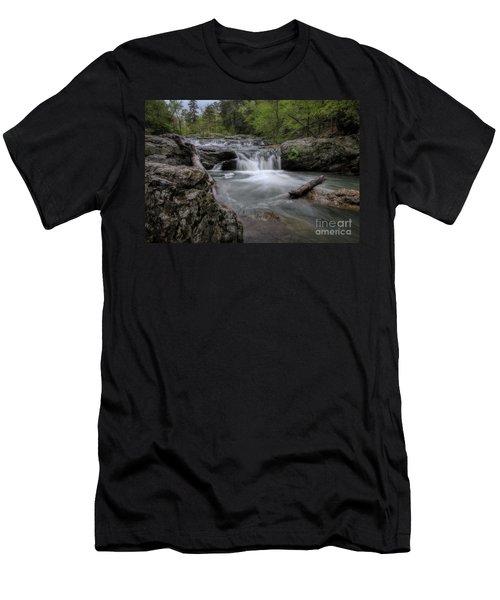 Little Missouri Falls Men's T-Shirt (Athletic Fit)