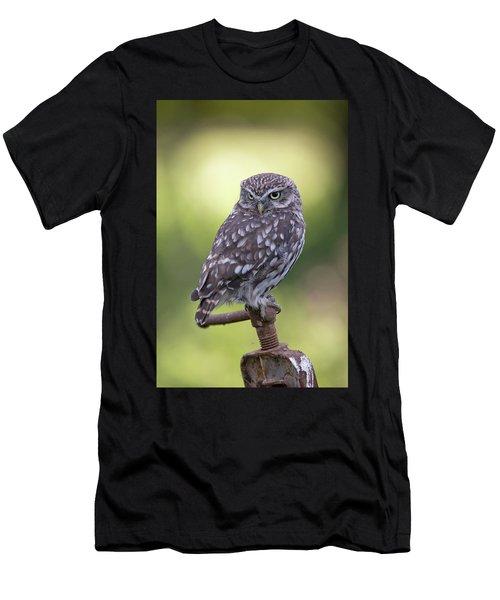 Little Owl Pipe Bender Men's T-Shirt (Athletic Fit)