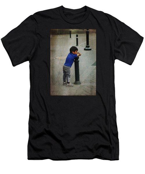 Little Peruvian Boy Men's T-Shirt (Athletic Fit)