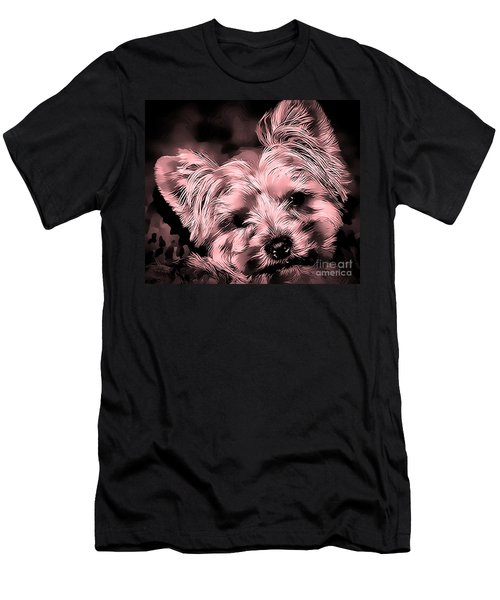 Men's T-Shirt (Athletic Fit) featuring the photograph Little Powder Puff by Kathy Tarochione