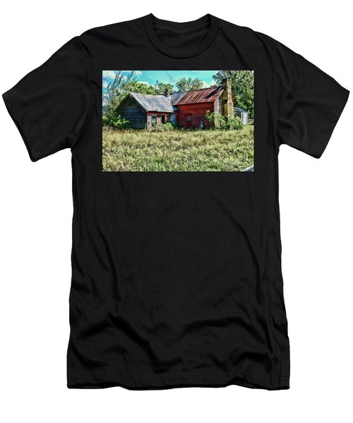Little Red Farmhouse Men's T-Shirt (Slim Fit) by Paul Ward