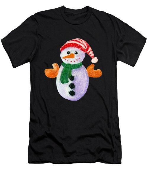 Little Snowman Men's T-Shirt (Athletic Fit)
