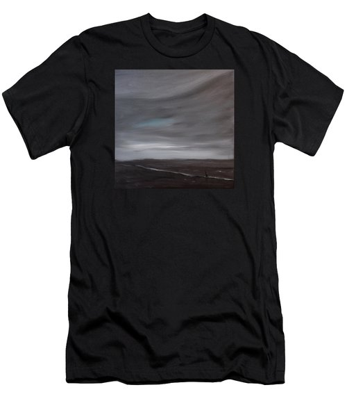 Little Woman In Large Landscape Men's T-Shirt (Athletic Fit)
