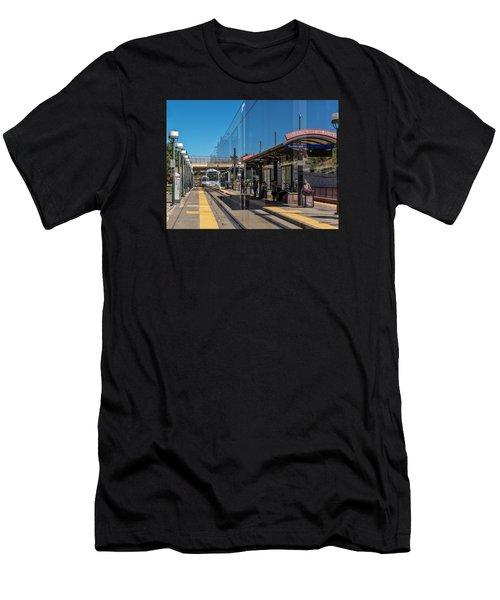 Littleton Rtd Light Rail Station Men's T-Shirt (Slim Fit) by Stephen  Johnson