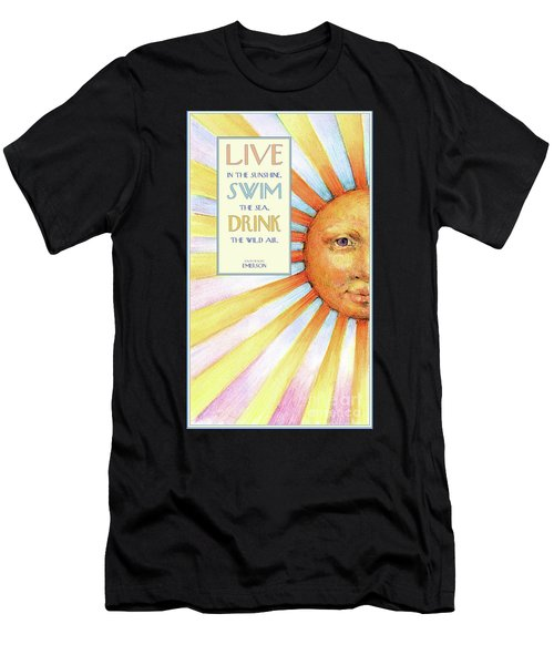 Live In The Sunshine Men's T-Shirt (Athletic Fit)