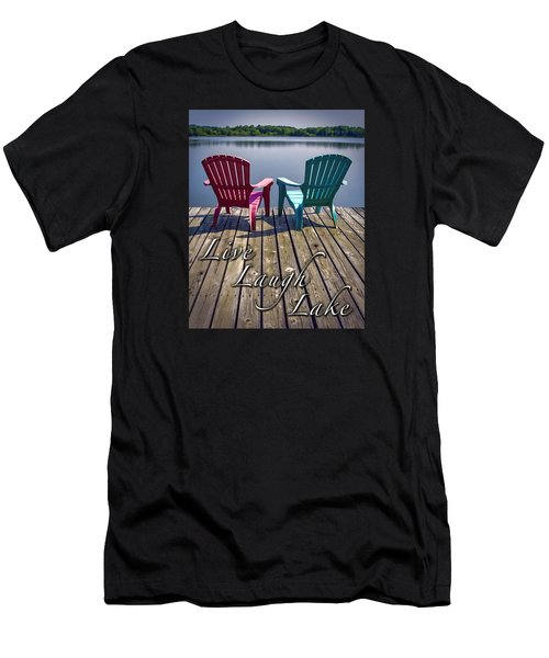 Live Laugh Lake Men's T-Shirt (Athletic Fit)
