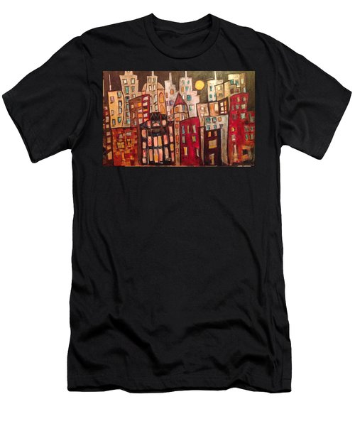 Lively City Skyline Men's T-Shirt (Athletic Fit)