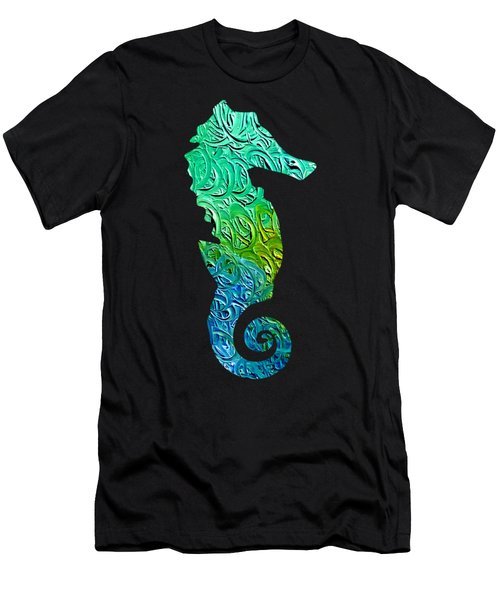 Lively Seahorse Men's T-Shirt (Athletic Fit)