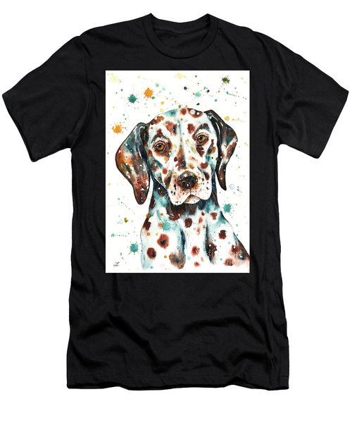 Liver-spotted Dalmatian Men's T-Shirt (Athletic Fit)