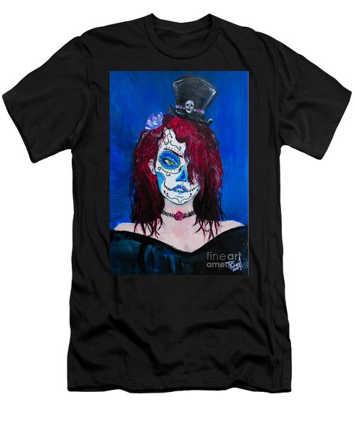 Men's T-Shirt (Athletic Fit) featuring the painting Living Dead Girl by Reed Novotny