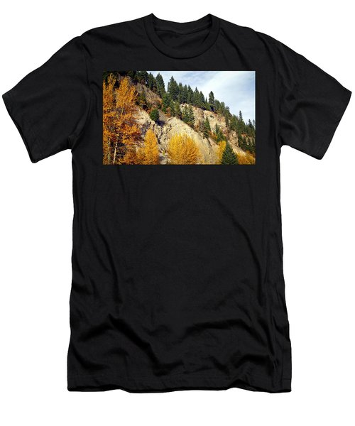 Living On The Edge Men's T-Shirt (Athletic Fit)