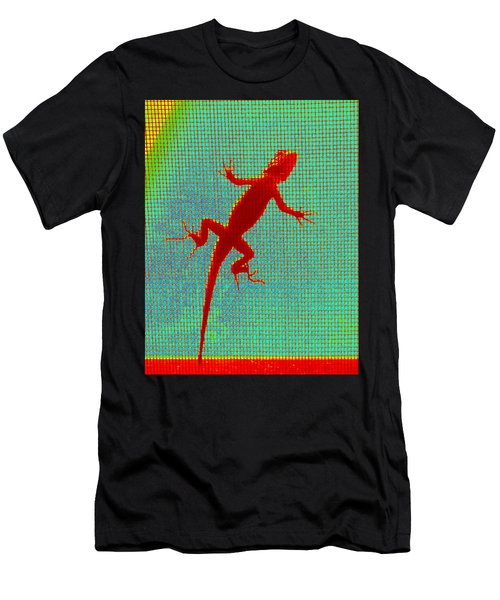 Lizard On The Screen Men's T-Shirt (Athletic Fit)