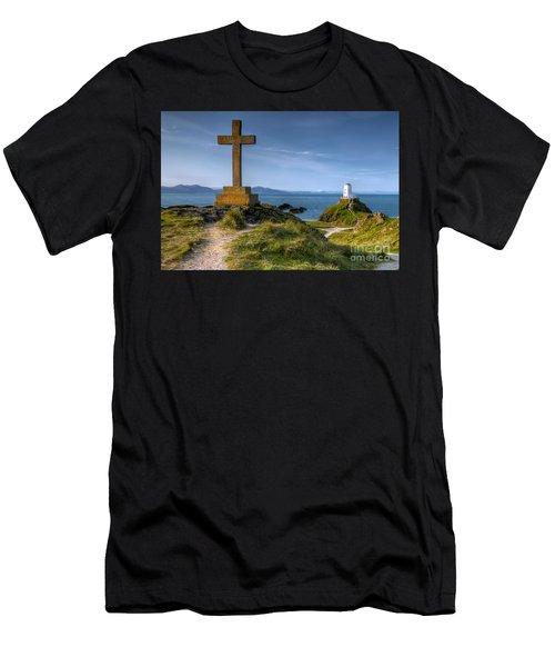 Llanddwyn Cross Men's T-Shirt (Athletic Fit)