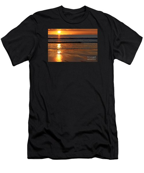 Llangennith Beach Sand Textures Men's T-Shirt (Athletic Fit)