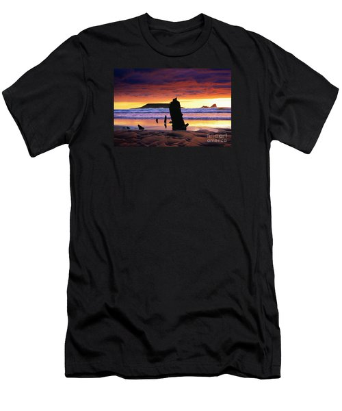 Llangennith Helvetia Wreck Men's T-Shirt (Athletic Fit)