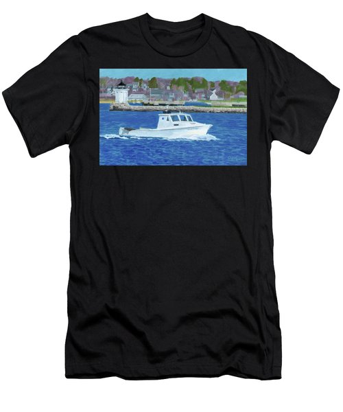 Lobster Boat And Bug Light Men's T-Shirt (Athletic Fit)