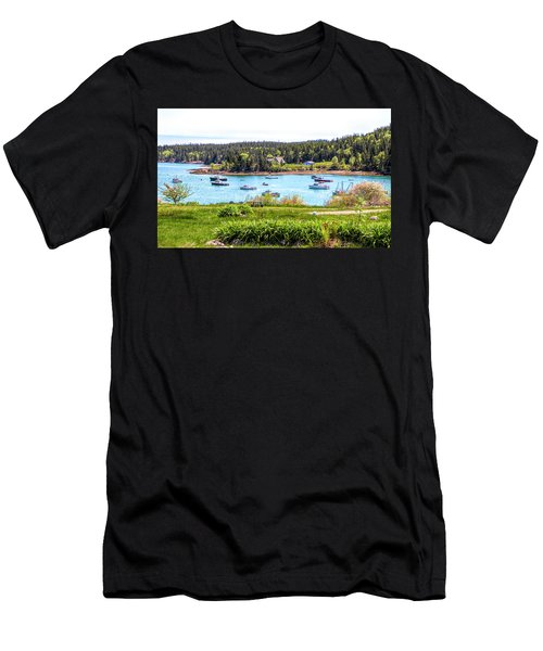 Men's T-Shirt (Athletic Fit) featuring the photograph Lobster Boats  by Betty Pauwels