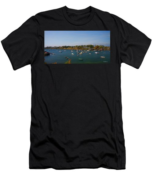 Lobster Boats On The Coast Of Maine Men's T-Shirt (Athletic Fit)
