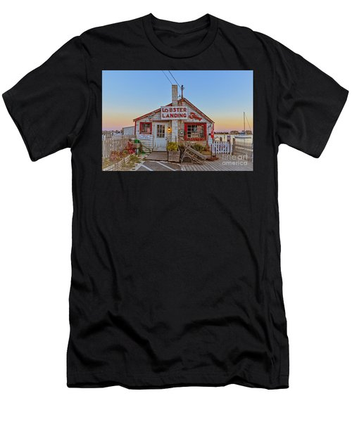 Lobster Landing Sunset Men's T-Shirt (Athletic Fit)