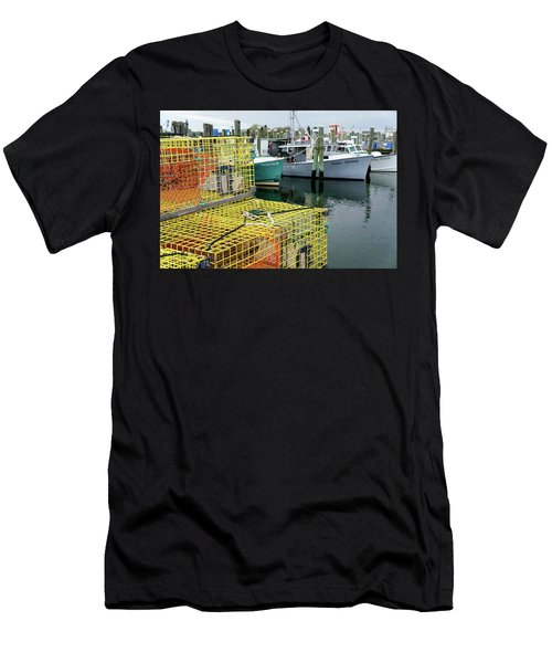 Lobster Traps In Galilee Men's T-Shirt (Athletic Fit)